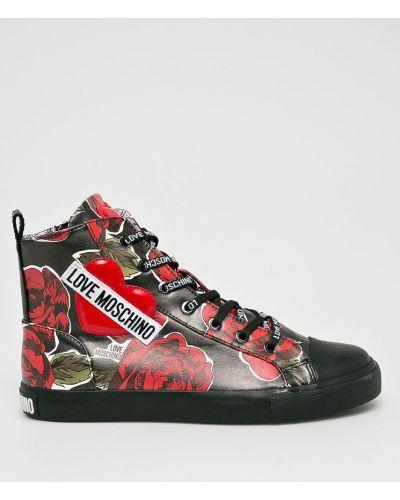 Черные ботинки на шнуровке Love Moschino