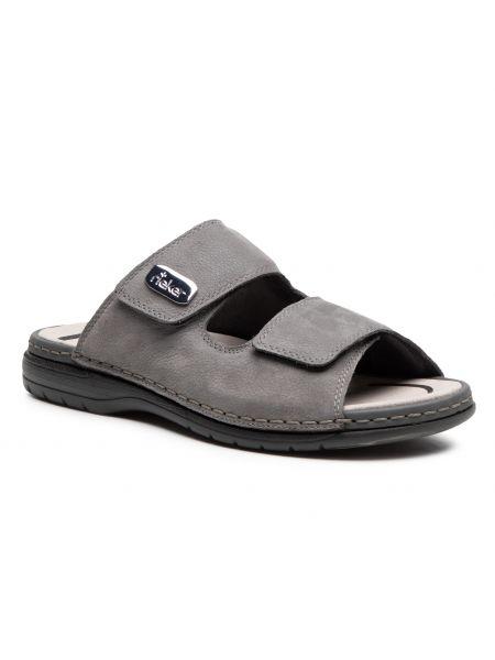 Szare sandały na lato Rieker