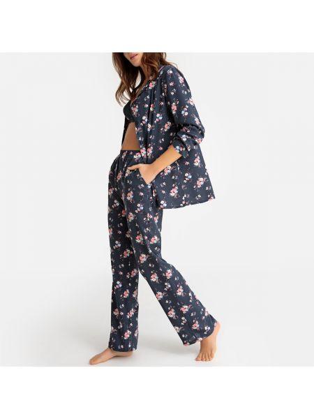 Пижама с цветочным принтом на пуговицах La Redoute Collections