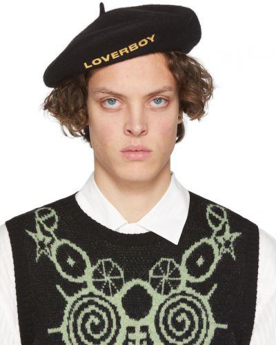 Czarna beret wełniana Charles Jeffrey Loverboy
