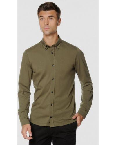 Рубашка с длинным рукавом - хаки Arber