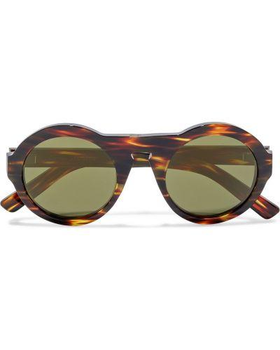 Brązowe okulary z printem Acne Studios