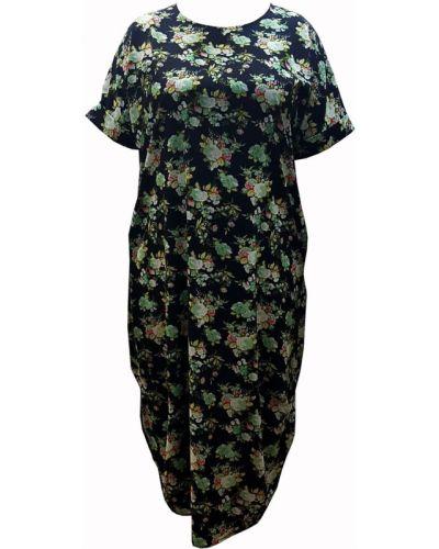 Летнее платье с цветочным принтом из штапеля Amarti