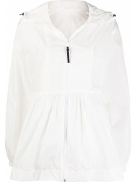 Облегченная куртка с капюшоном мятная с манжетами на молнии Duvetica