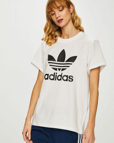 Футболка прямая хлопковая Adidas Originals