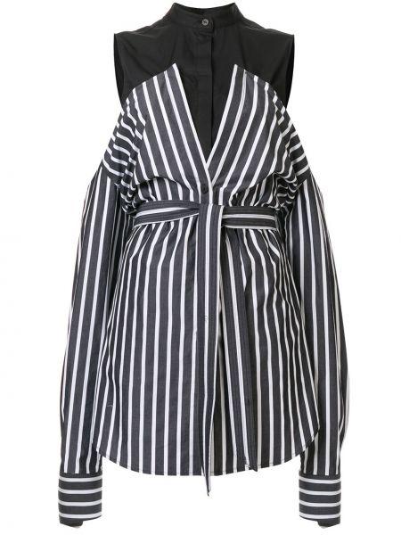 Рубашка в полоску - черная Strateas Carlucci