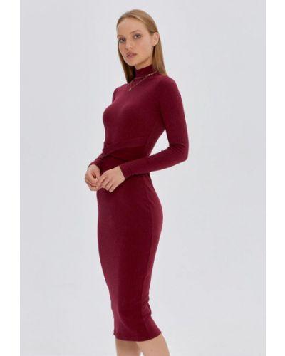 Вязаное платье - бордовое Cardo