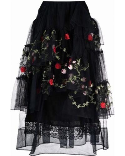 Черная юбка из фатина Simone Rocha