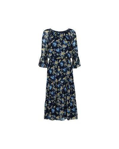 Платье макси из вискозы с оборками Luisa Spagnoli
