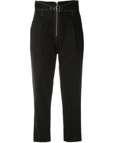 Черные укороченные брюки с поясом Cruise