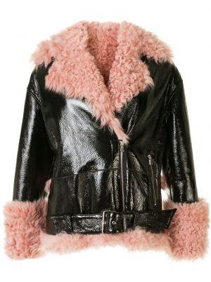 Черная куртка с поясом на молнии Sandy Liang