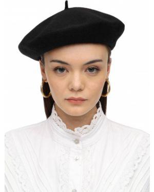 Czarny beret wełniany ácheval Pampa