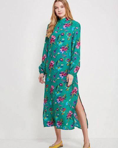 Платье с длинными рукавами льняное Mango