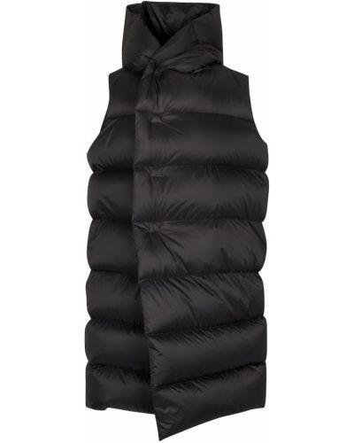 Черное пальто без рукавов Rick Owens