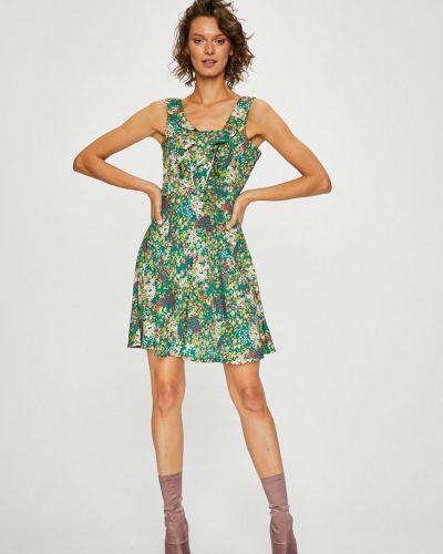 Платье мини с оборками сетчатое льняное Silvian Heach