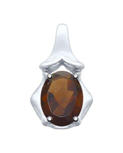 Серебряная подвеска с камнями с топазом Sokolov