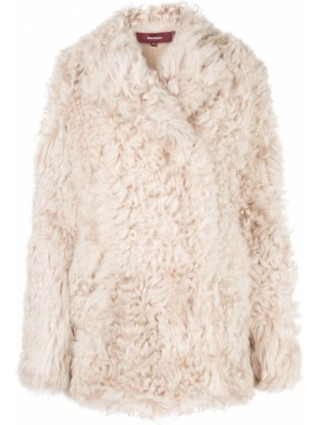 С рукавами коричневый удлиненный пиджак с воротником Sies Marjan