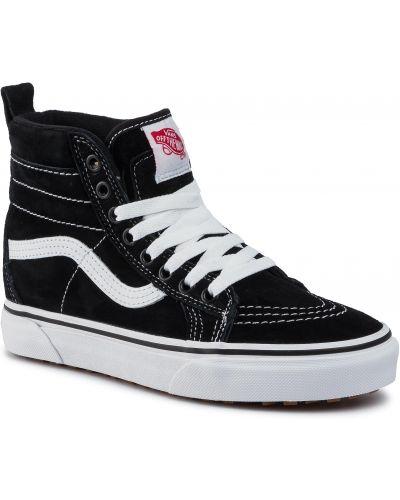Czarny sneakersy z kołnierzem Vans