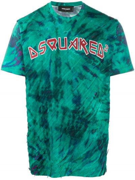 T-shirt bawełniana - niebieski Dsquared2