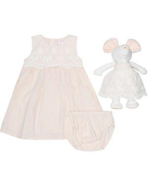 Платье розовое лососевый Chloã© Kids