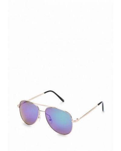 Солнцезащитные очки золотого цвета Noryalli