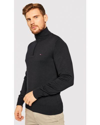 Czarny sweter bawełniany Tommy Hilfiger