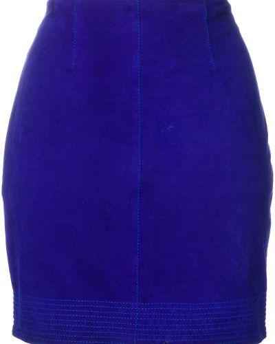 Юбка мини винтажная замшевая Versace Vintage