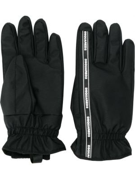 Czarne rękawiczki Dsquared2