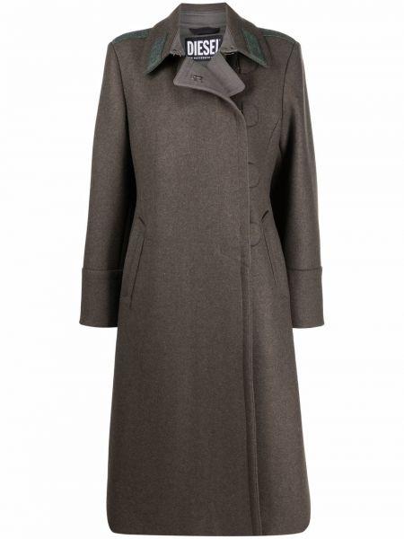 Шерстяное пальто - зеленое Diesel