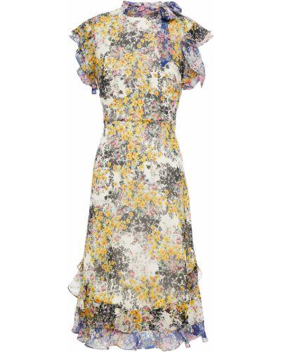 Бежевое платье с подкладкой на крючках Mikael Aghal