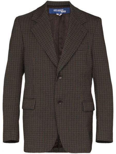 Черный пиджак с заплатками на пуговицах свободного кроя Junya Watanabe Man