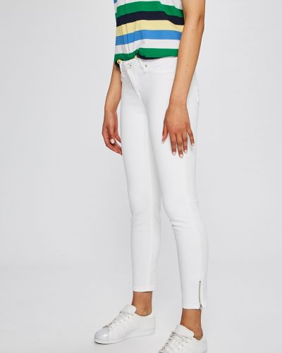 Белые джинсы-скинни Mustang
