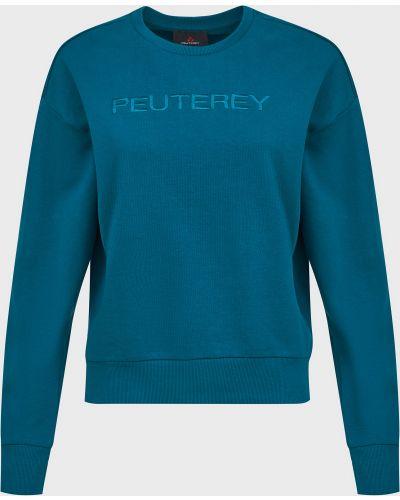 Хлопковый джемпер - синий Peuterey