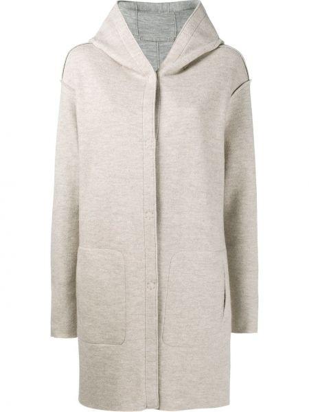 Beżowy płaszcz wełniany Frauenschuh