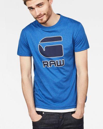 Футболка с принтом хлопковая G-star Raw