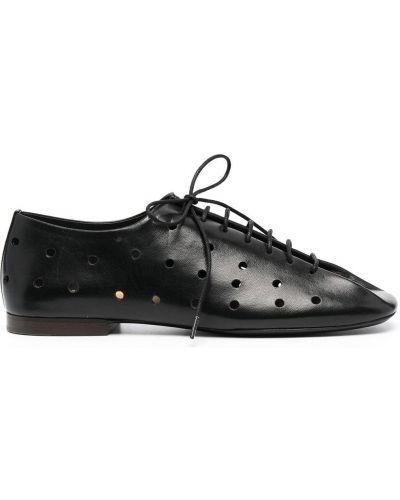 Черные кожаные туфли на каблуке Lemaire
