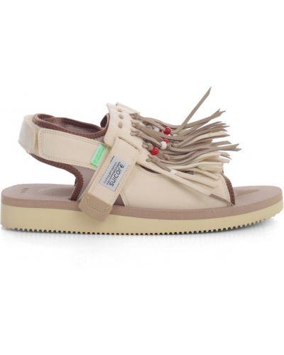 Białe sandały z frędzlami Suicoke