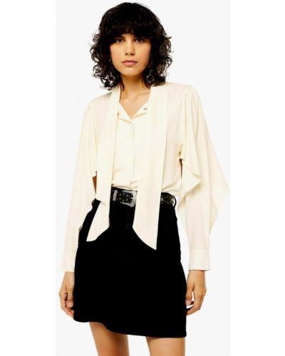 Блузка с длинным рукавом бежевый Topshop