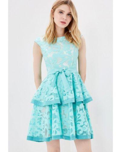 Вечернее платье бирюзовый осеннее Vagi