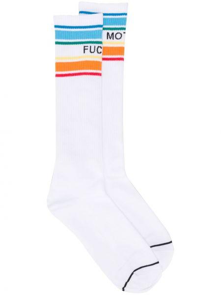 Хлопковые белые носки Mother