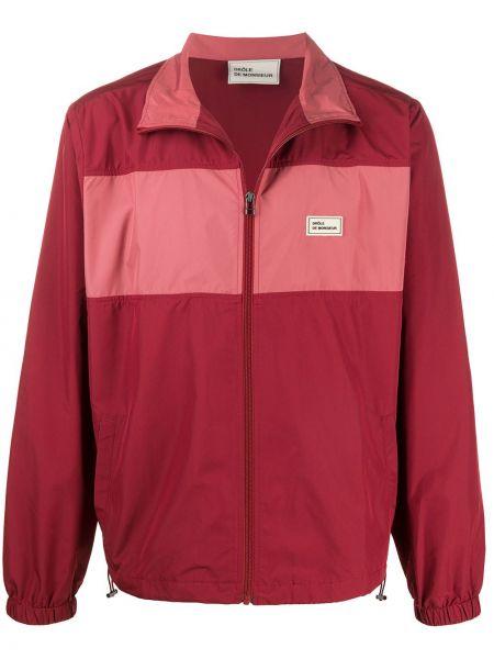 Czerwona długa kurtka z długimi rękawami Drole De Monsieur