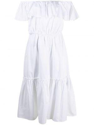 Открытое шелковое белое платье Federica Tosi