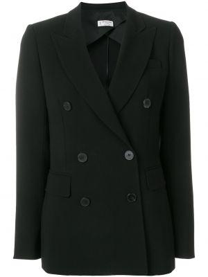 Черный пиджак двубортный на пуговицах Alberto Biani