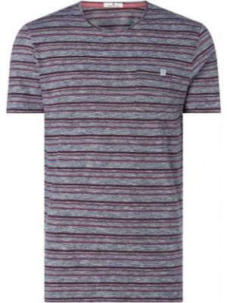 Koszula w paski z logo Tom Tailor