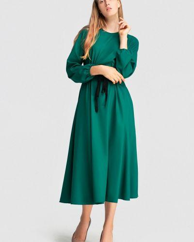 Платье осеннее прямое Grass