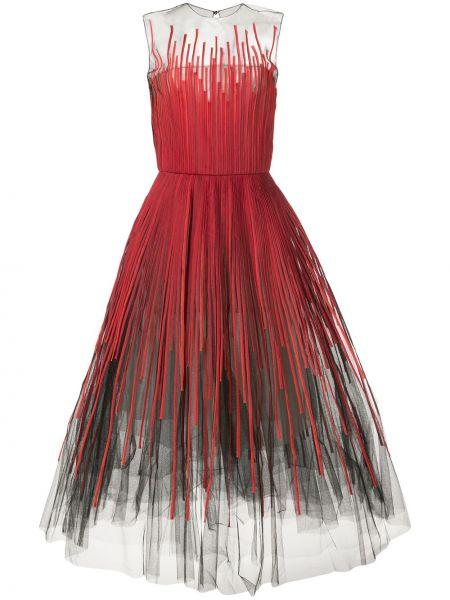 Платье миди макси в полоску Oscar De La Renta