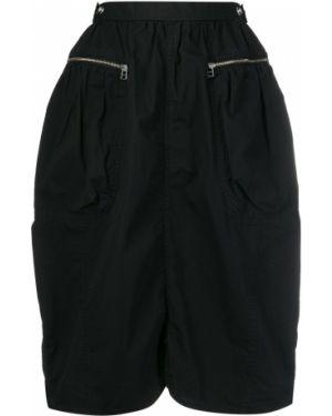 Bawełna czarny z wysokim stanem spódnica z kieszeniami Ambush