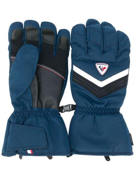 Niebieskie rękawiczki z printem Rossignol