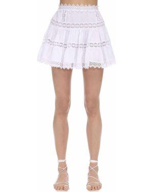 Плиссированная ажурная юбка мини Charo Ruiz