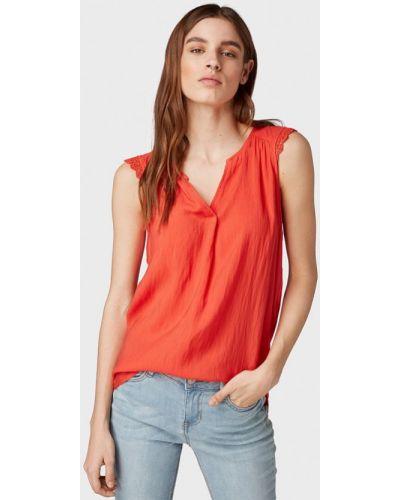 Блузка без рукавов коралловый красная Tom Tailor Denim